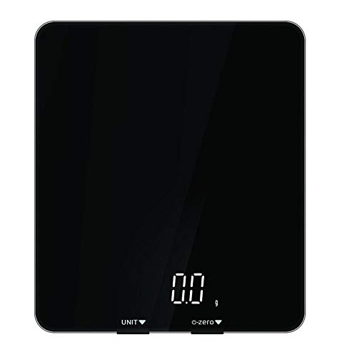 BARCTELRT küchenwaage elektronische Waage kompakte Größe Elektronische Küchenwaage Lebensmittel 5kg nach Hause Smart Bluetooth Küchenwaage @ schwarz