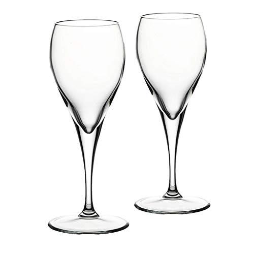 Verre de vin rouge de gobelet de 325ML Goblet à la maison à la maison en verre de vin rouge de verre de vin de Bourgogne de Bourgogne à deux pièces JXLBB