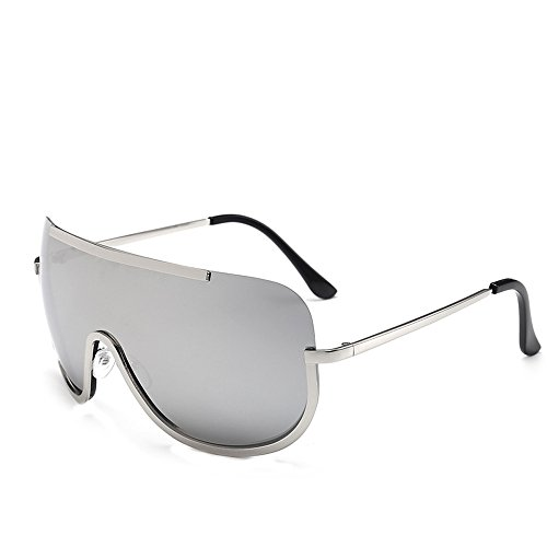 Spiegel Objektiv Sonnenbrillen,EUZeo Vintage Retro Glasses Women Men Sunglasses (Gray) (Police Aviator Brille Kind)