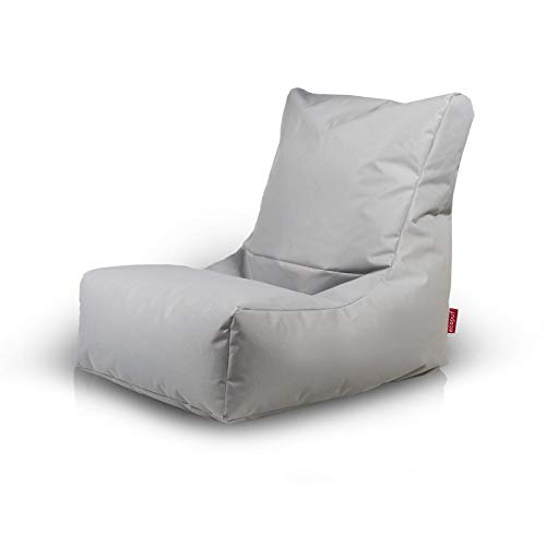 Markt Kraft Sitzsack XXL, Kissen, Polyester - Premium Qualität - Hellgrau