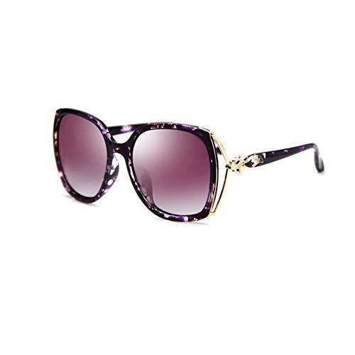 JFFFFWI Polarisierte Sonnenbrille uv-Schutz blendfrei beseitigen streulicht übergroße Mode (Farbe: 3)