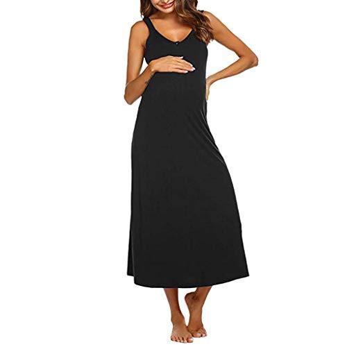 buy online 1bd2b 9cce0 BANAA Premaman Abbigliamento Casual Vestito Donna Gravidanza Stampa  Eleganti Estivi Vestiti Semplice Premaman Allattamento Camicia Notte Abito  ...