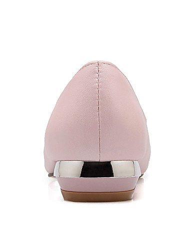 ShangYi Scarpe Donna Finta pelle Basso A punta Ballerine Casual Nero/Blu/Rosa/Bianco Pink