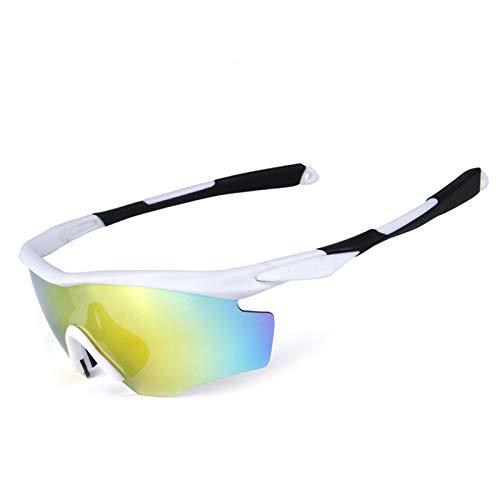 AmDxD PC Polarisierte Sonnenbrille Sandkontrolle Fahrradbrille für Motorrad Fahrrad Helmkompatible, Weiß Schwarz