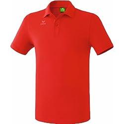 erima Poloshirt Teamsport - Polo para niña, color rojo, talla 12 años (152 cm)