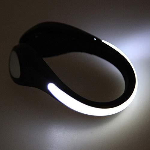 Comtervi LED Schuh Clip,Hell Leuchtendes Reflective Nacht Sicherheits Licht für Laufen Joggen Running Jogging und andere Outdoor Sports