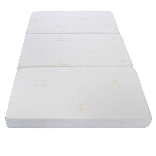 Milliard Futon Cómodo Colchón Plegable en Tres Partes, de 10 cm de...