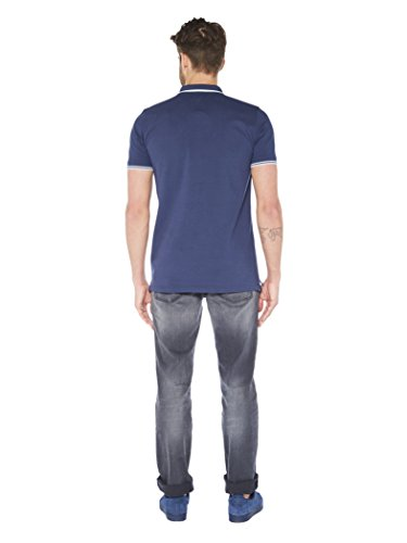 Colorado Denim Herren Poloshirt Gino Blau (mood Indigo 6078)