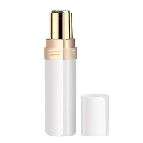 LGYQX Donne Elettrico Viso Epilatore,Portatile Indolore Rossetto Forma Design delle Impeccabili Trimmer Peluria di Bikini Ascella Body Rasoi(Bianco)