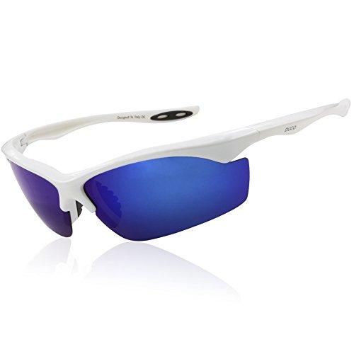 Duco Bike Polarisierte Fahrradbrillen Radfahren Sportbrillen Sonnenbrillen 6188 (Blau)