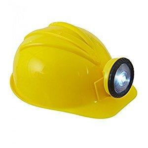 Bauarbeiter Outfit (Widmann 03306 Bauarbeiterhelm mit Lampe aus Hartplastik für Erwachsene,)