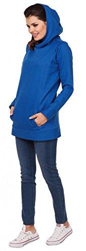 Zeta Ville - Damen Diskretes Still-Sweatshirt Kapuze Seitenreißverschluss - 053c Königsblau