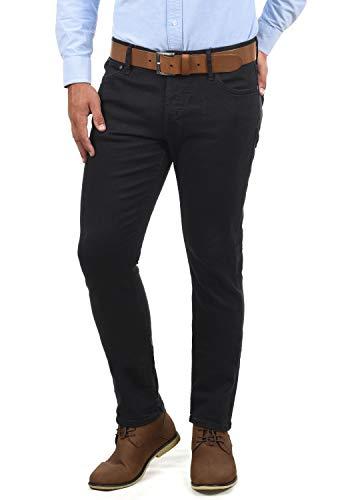 JACK & JONES Ubbo Herren Jeans Hose Denim Stretch Slim Fit, Größe:W34/34, Farbe:Black Denim