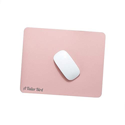 AtailorBird Mauspad, Office Mauspad(270 * 210 * 2mm), rutschfeste Mousepad doppelte Farbe wasserdicht PU Leder Matte für PC, Computer und Laptop - Rosa Silber