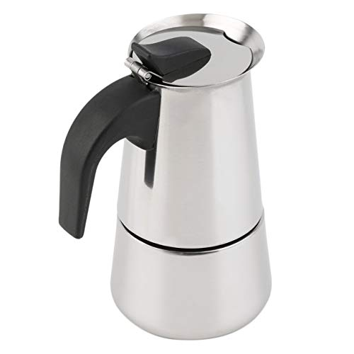 Edelstahl Espresso-topf (Monllack 2/4/6-Cup Percolator Herd Top Kaffeemaschine Moka Espresso Latte Edelstahl Topf heiße)