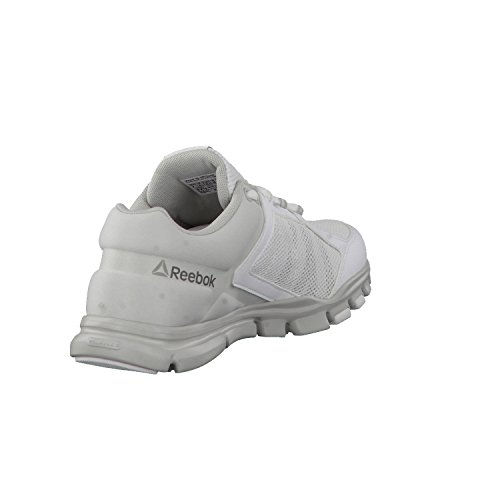 Reebok Yourflex Trainette 9.0 Mt, Sneaker Bas du Cou Femme Blanc Cassé (Wht/skull Grey/silver Met/grey)