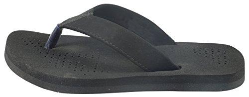 MICRO-SOFT Men's Black Flip-Flops - 6 UK