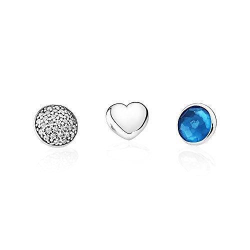 Pandora–parure di gioielli in argento 925con zirconi blu–792091nlb