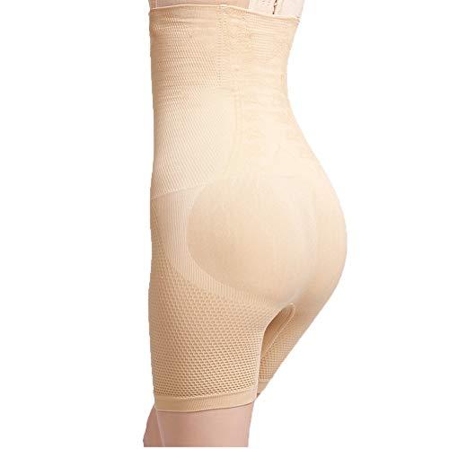 Biddtle Shapewear Damen Miederhosen Bauch Weg Figurformender Hohe Taille Push Up Miederslip Miederpants Body Shaper,Beige,XL - 5