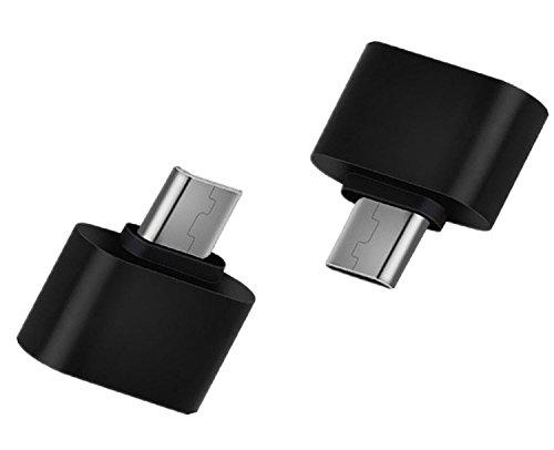 Hosaire Micro USB OTG adaptador 2.0 Cable Negro Micro USB B macho a una hembra para Smartphone Tablet Samsung Huawei, 2 piezas