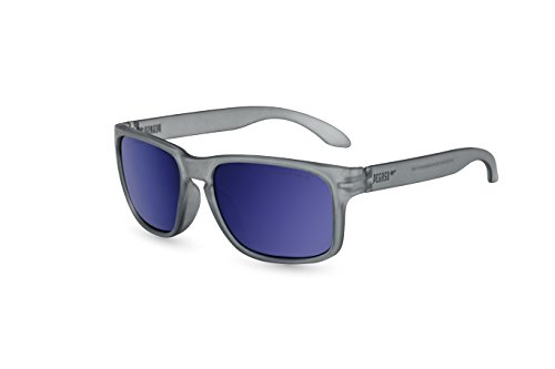 Pegaso Rocky, Sonnenbrille Unisex, Grau/Spiegel Blau Revo, 55
