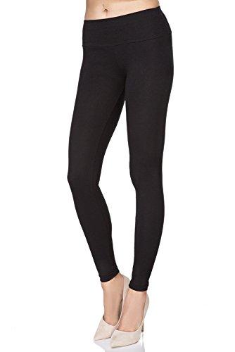 MITAAMI Women High Waist Leggings Sliming Effect Pants Plus Size Tummy Control Waistband