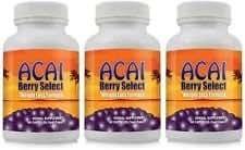 Acai Berry Select Natural Acai Berry Weight Loss Formula - perdre du poids et brûler la graisse du ventre avec supplément Acai Berry Diet - 3 Bouteilles