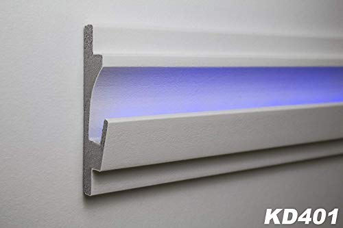 1,15 Meter LED Stuckleiste für indirekte Beleuchtung XPS 125x35mm, KD401