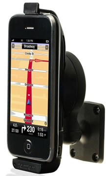 TomTom Car Kit for iPhone Active Holder Schwarz Halter (Handy/Smartphone, Active Holder, schwarz, iPhone, iPhone 3G, iPhone 3GS, iPhone 4, require iPhone OS 3.0, 115g, 127,59X 69,36X 47,44mm)