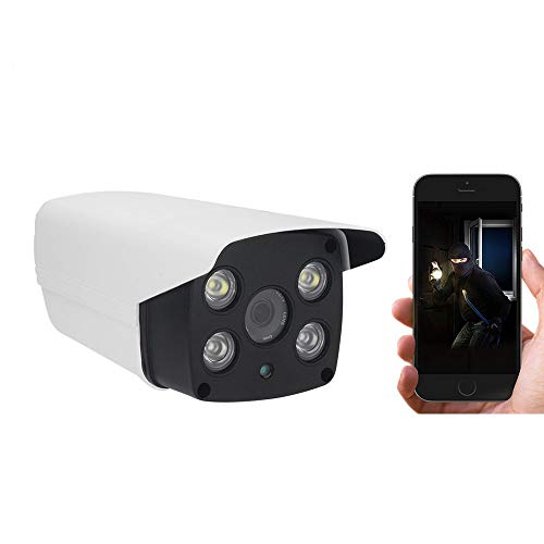 Cámara IP Inalámbrica, PoE WiFi Cámara de Vigilancia 1080P Audio  Bidireccional, Visión Nocturna IP66 Alerta Impermeable Detección de  Movimiento