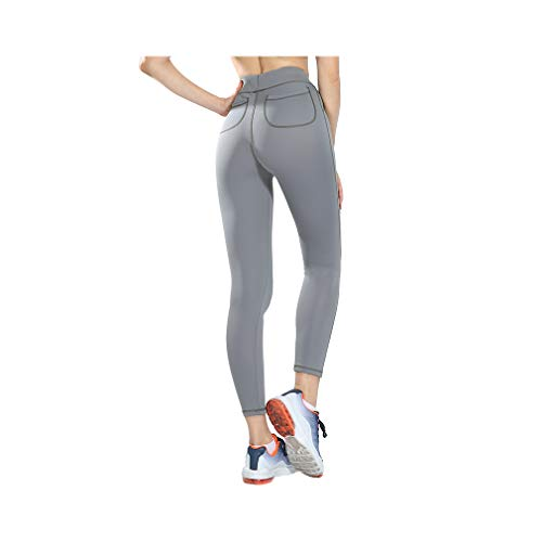 aoliaoyudonggha Plus Size Push Up Leggings Sexy Women High Waist Pants Slim Sportswear Breathable Pocket Trousers -