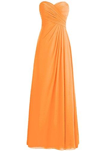 HWAN Frauen Aline Schatz faltete langen Kleid Brautjungfer Abendkleid (Abendkleider Von Jovani)