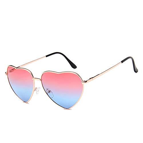 DIYOO Retro Herzform Sonnenbrille Mode Sonnenbrille Vintage Look Sonnenbrille männer Frauen Unisex Klassische Brillen rot blau