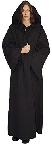Maylynn 16281 – Mittelalter Umhang Damen Vampir Cape Kapuzenumhang 100% Baumwolle, Größe:M - 2