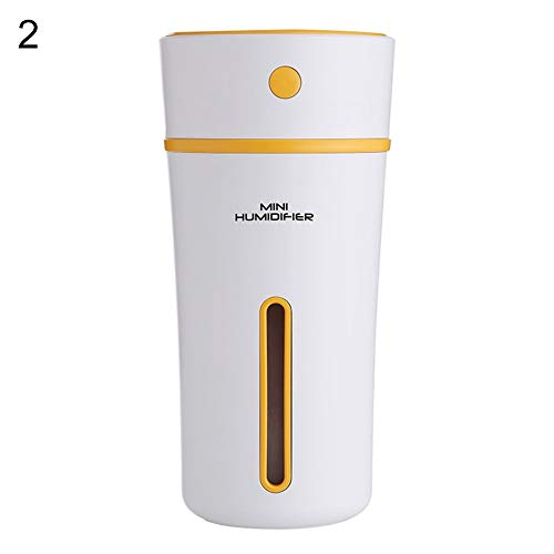 Bobopai Creative Cup Shape Mini USB Humidifier Home Office Air Purifier with LED Light for Office Home Bedroom Living Room Study Yoga Spa (Orange) Crystal Goblet Set