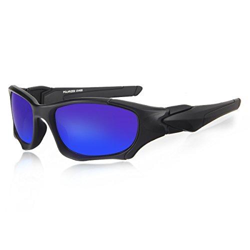 lunettes de soleil homme Lunettes de soleil pour homme Polarized UV400 Sports Lunettes de soleil pour Outdoor Sports Ride Driving Golf Pêche Running Skiing Escalade Randonnée Driving Convient pour les 4kvpCdTGlK