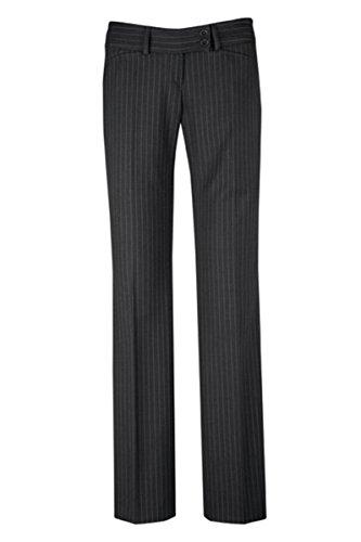 GREIFF Damen-Hose Anzug-Hose PREMIUM regular fit - Style 1352 - anthrazit/Nadelstreifen - Größe: 46 -