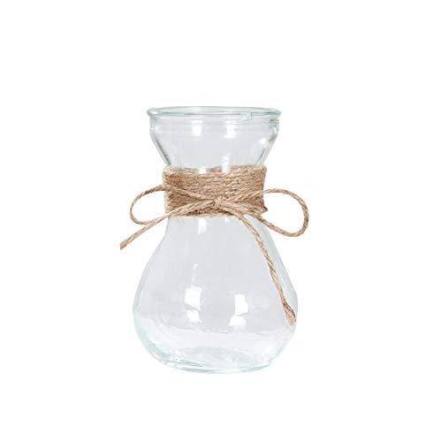 Takefuns Bud Jarrones de Cristal en Diferentes Formas únicas, diseño Creativo de Cuerda hidropónica, Flores secas, jarrón para Sala de Estar, decoración de Mesa, Vidrio, A8, A8
