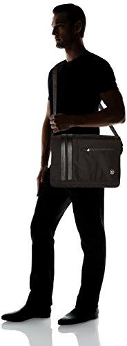 Bogner Herren Messenger Bag Schultertasche, Schwarz (Black), 12x30x40 cm Schwarz (Black)