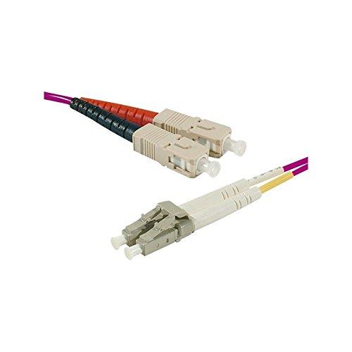 Connect 1m OM450/125LSZH SC/LC Fiber Duplex Patch Cord-Pink -