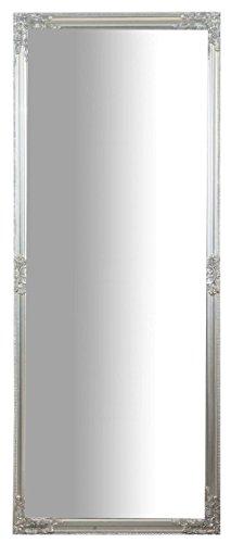 Specchio Specchiera da Parete con Cornice Rettangolare in Legno 72x3x180 cm Finitura Argento Anticato da Appendere Verticale/Orizzontale