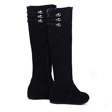 RTRY Scarpe Donna Pu Autunno Inverno La Moda Stivali Stivali Chunky Tallone Sopra Il Ginocchio Stivali Per Casual Nero Black Us6 / Eu36 / Uk4 / Cn36 US8 / EU39 / UK6 / CN39