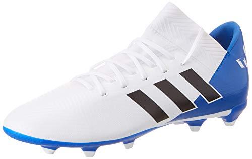 adidas Unisex-Kinder Nemeziz Messi 18.3 FG Fußballschuhe, Weiß (Ftwbla/Negbás/Fooblu 001), 35 EU (Adidas Fußball Schuhe Messi Kinder)