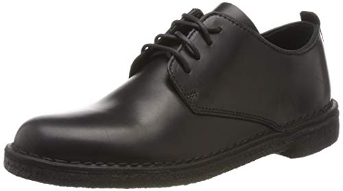 Clarks Desert London, Scarpe Stringate Derby Donna, Nero Black Polished, 38 EU