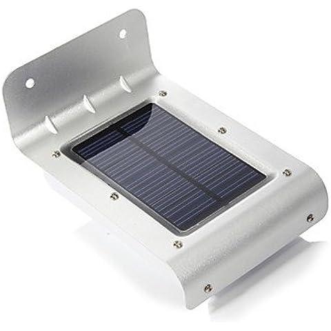 LL 16 LED energia solare movimento sensore rilevatore sicurezza giardino luci esterne - Vento Rilevatore