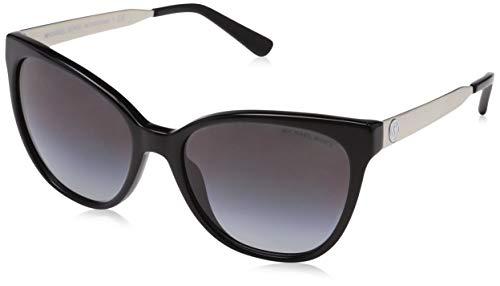 Michael Kors Damen NAPA 316311 55 Sonnenbrille, Black/Lightgreygradient,