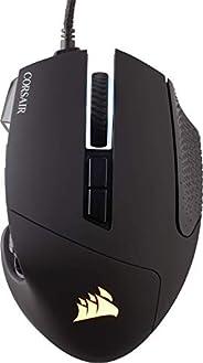 Corsair Scimitar ELITE RGB Mouse Gaming Ottico per MOBA/MMO, Sensore Ottico da 18.000 DPI, 17 Pulsanti Program