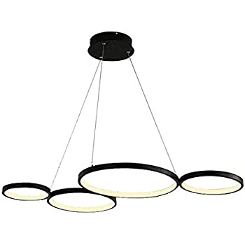 Pendentif Créatif 4 Led Moderne Rond Design Cercle Suspension Lampe IE29YWHeD
