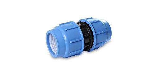 Raccord de réparation en polypropylène PP connecteur de serrage klemmfitting pour tube PE irrigation DVGW 16 bar 40mm x 40mm