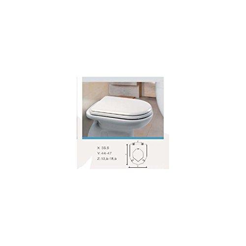Sedile mdf e110 quadrarco bianco lucido